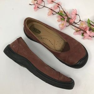 Keen Brown Leather Loafers Flats Womens sz 36 6